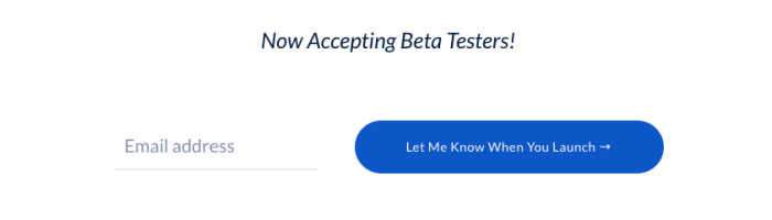 accepting beta testers