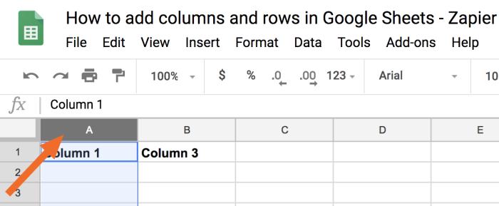 Select entire column