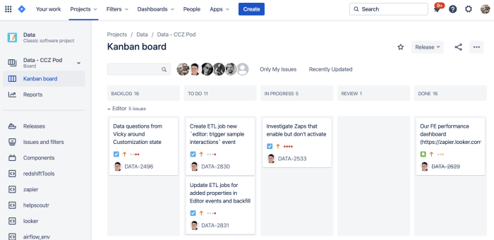 Screenshot from Jira