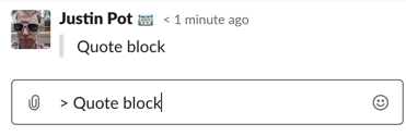 Strike through text in Slack