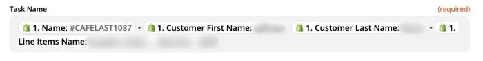 Zapier task name set-up