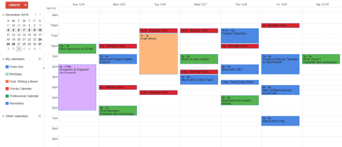 Google Calendar slots