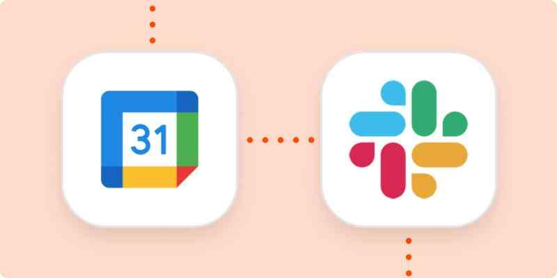 The Google Calendar and Slack logos