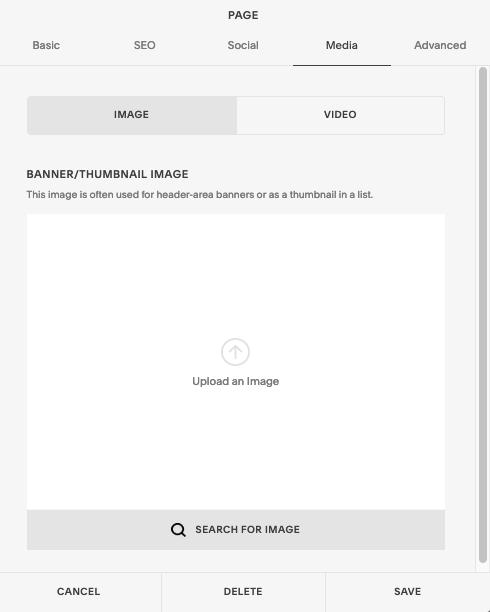 Empty image block
