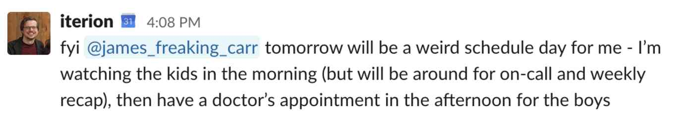 fyi @james_freaking_carr tomorrow will be a weird schedule day for me - I