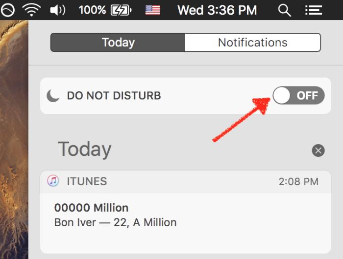 Do Not Disturb in macOS