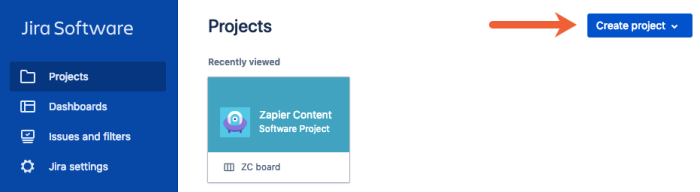 create another project in Jira