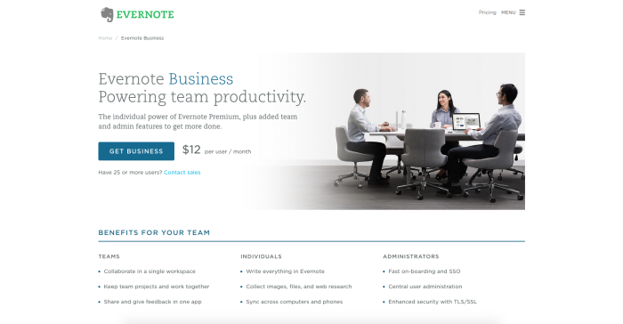 Evernote Business for Nonprofits