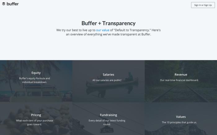 Buffer Transparency Dashboard