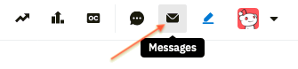 Message icon for inbox