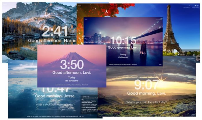 beautiful backgrounds for the Momentum app