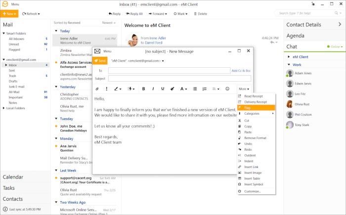 eM Client email app