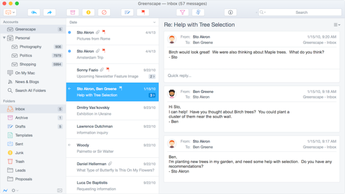 Postbox email app