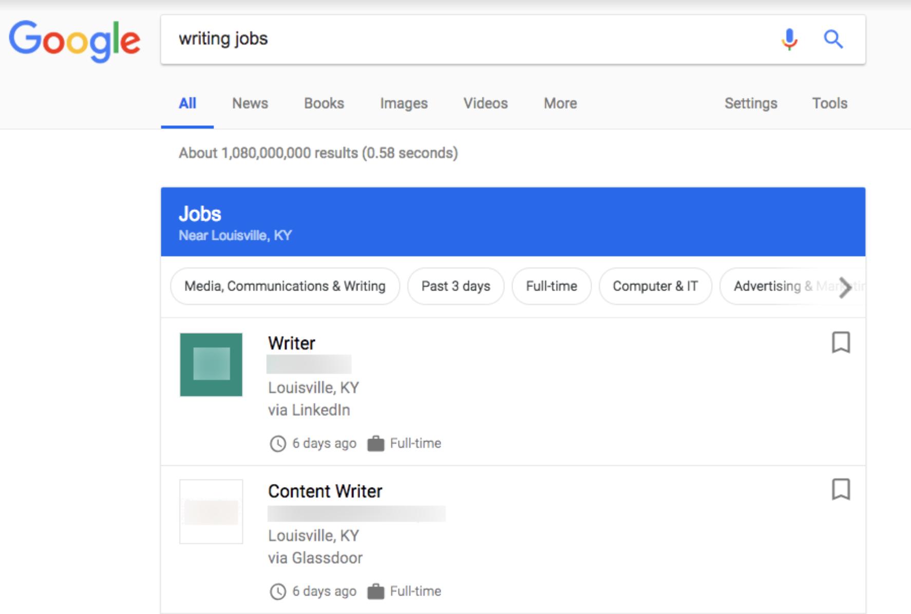Job Search on Google