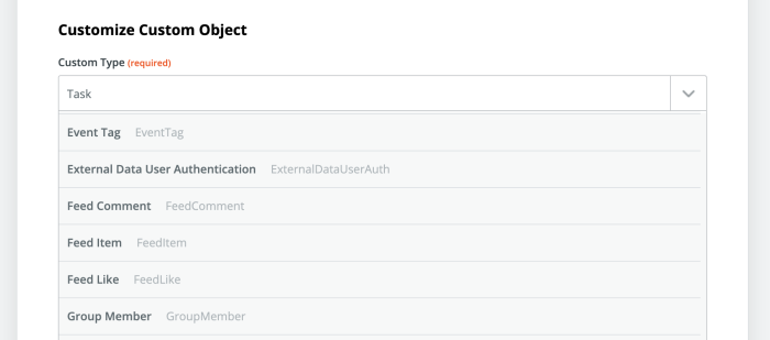 Choosing a Custom Object in your Salesforce Zap