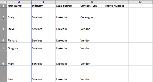 These columns are a great start for your contacts database