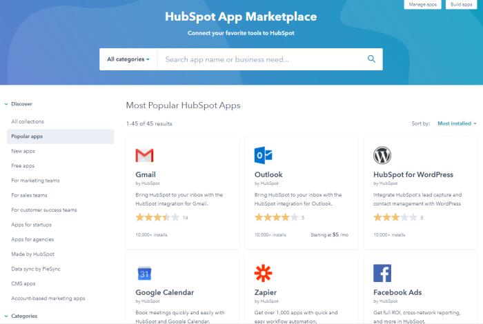 HubSpot dashboard