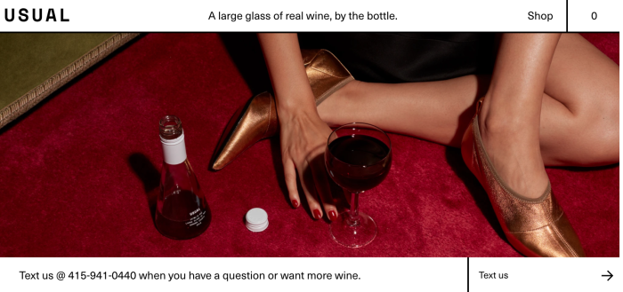 An image from Usual Wines