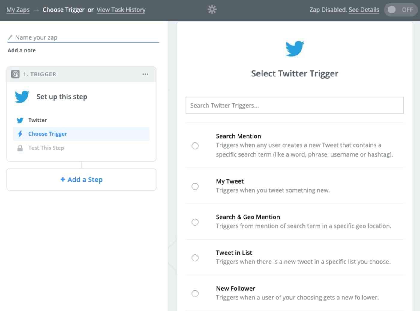 create Twitter RSS feed