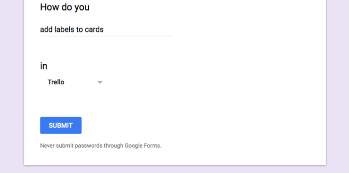 Fill in the blank question on Google Forms