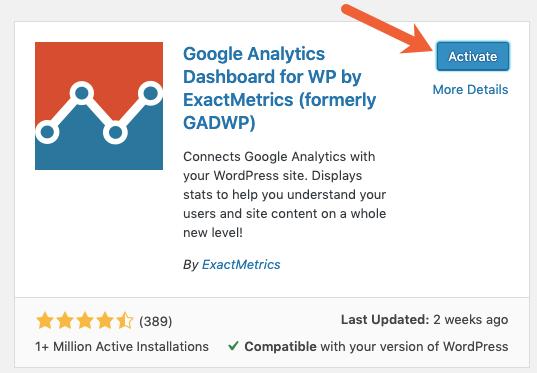 activate WordPress plugin