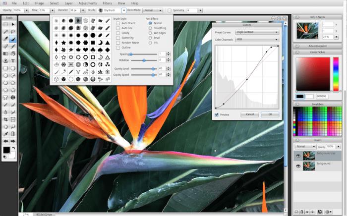 Sumopaint photo editor screenshot
