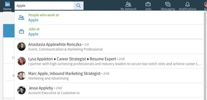 LinkedIn Basic Search