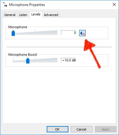 Mute Windows microphone