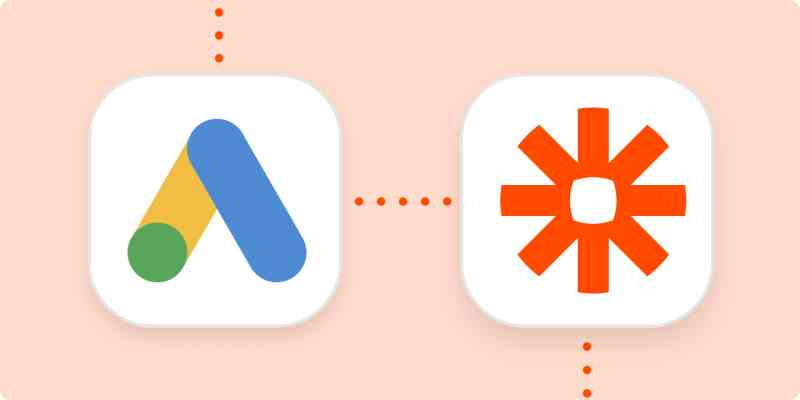 The logos for Google Ads and Zapier