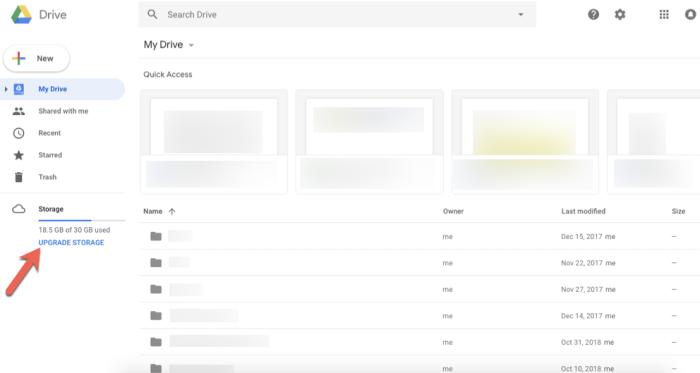 Google Keep storage