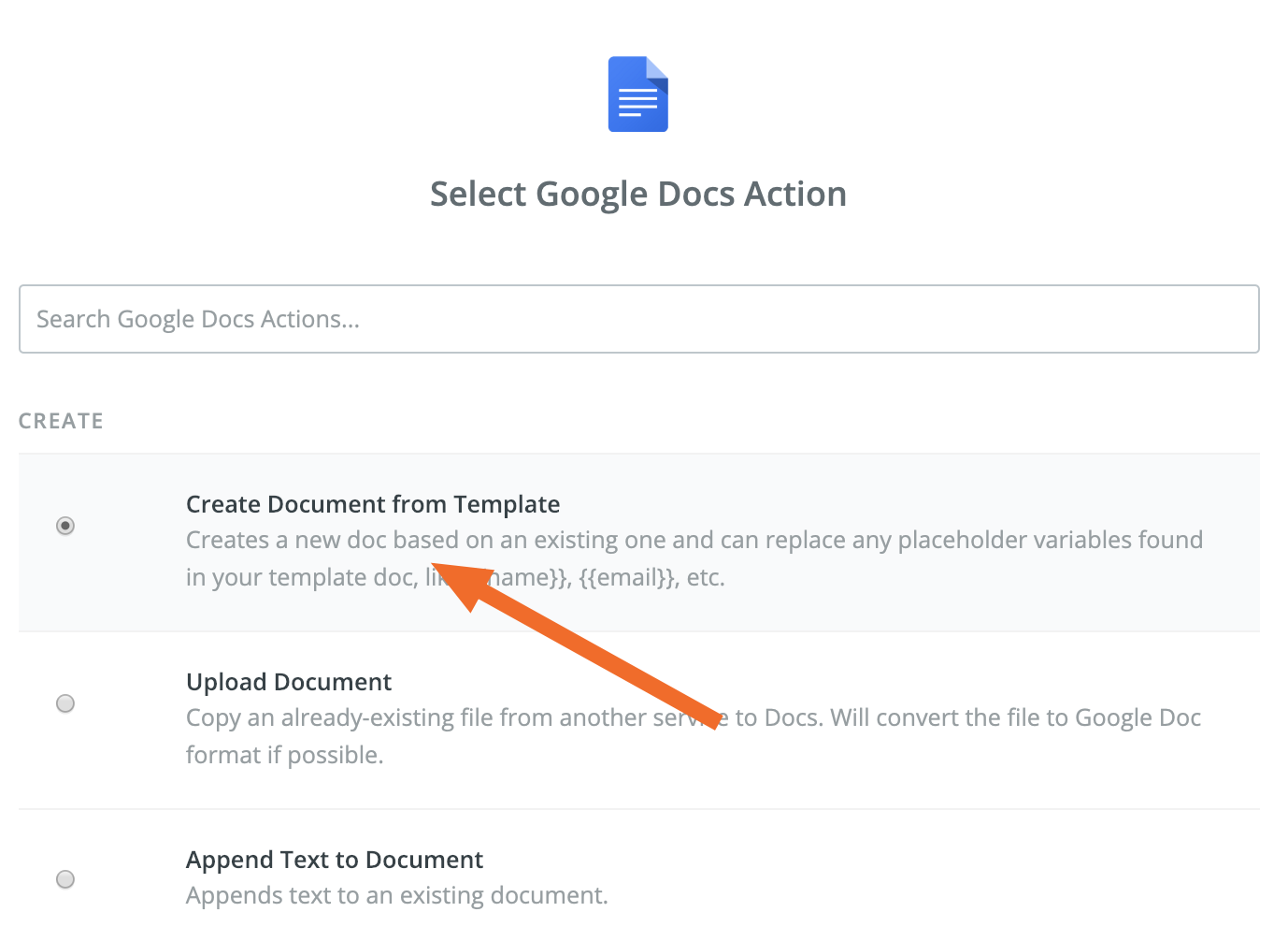 Create document from template