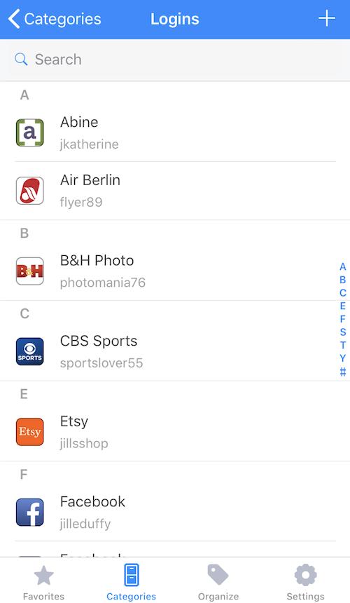 1Password iPhone app