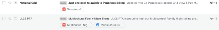 Gmail attachment preview