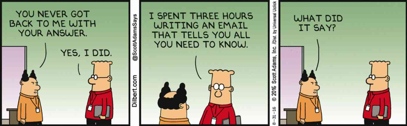 Dilbert meeting email
