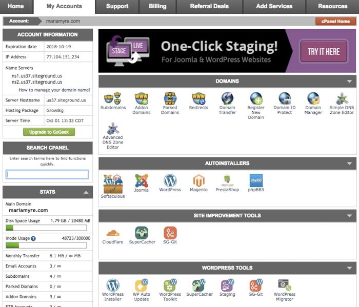 Third-party hosting provider