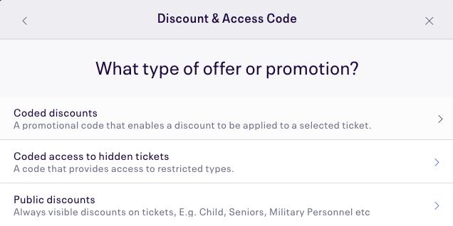 Type of discount