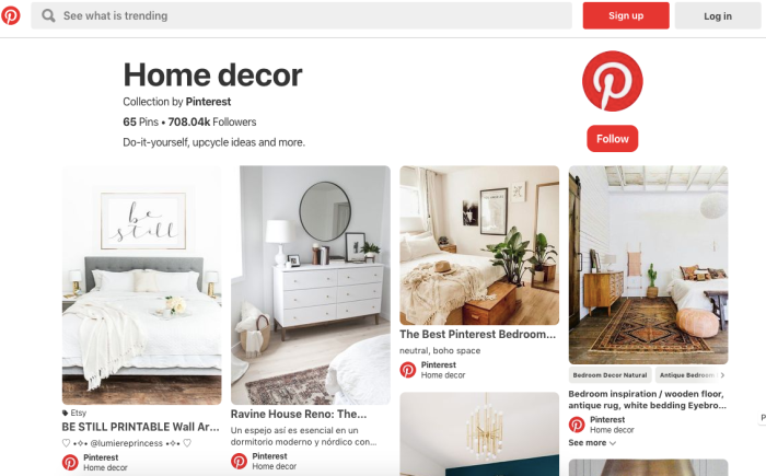 Pinterest home decor collections