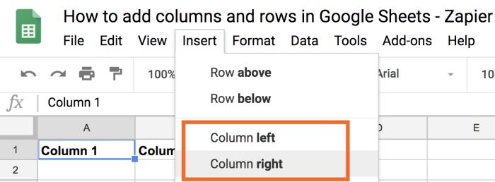 Column left or Column right