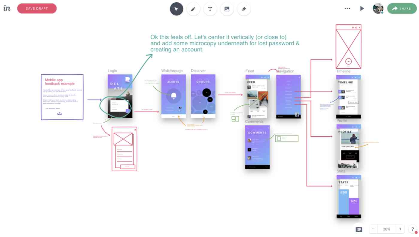 InVision Freehand interface