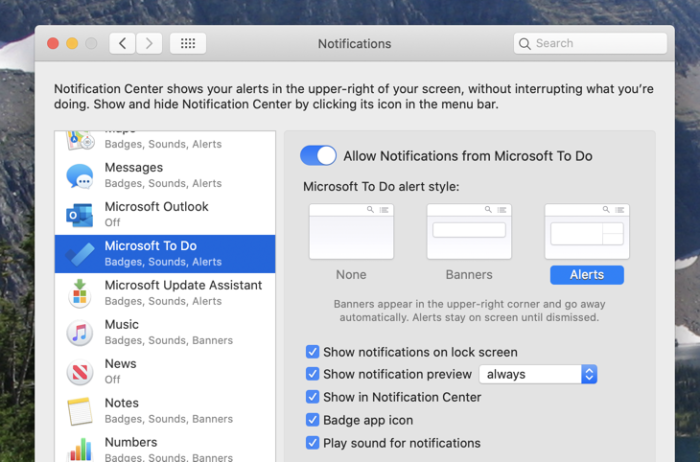 Notifications on your Mac