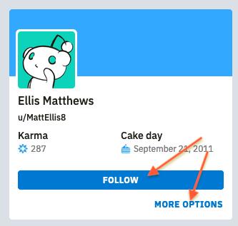 Following a user