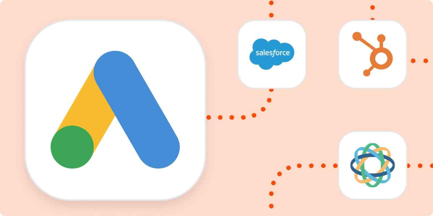 The Google Ads logo and the Zapier logo
