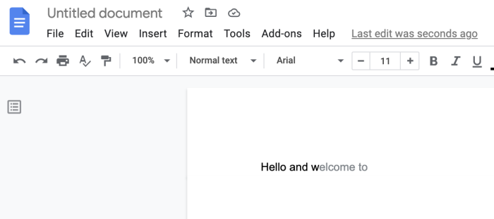Showing Smart Compose in action in Google Docs