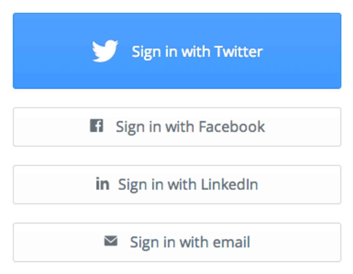 Twitter log-in for Buffer