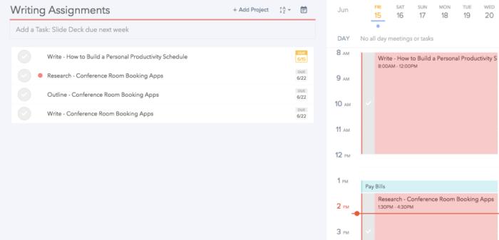 Plan app screenshot