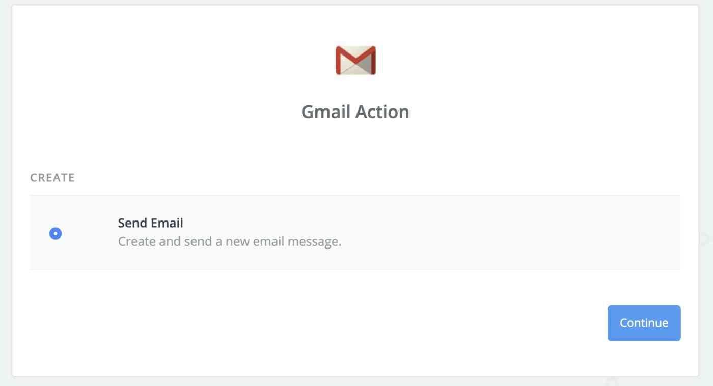 Gmail action step template