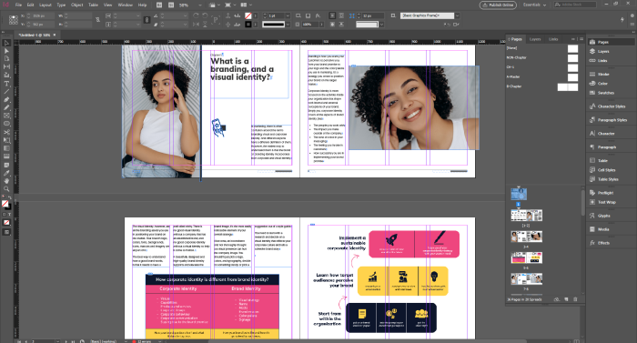 A screenshot from InDesign