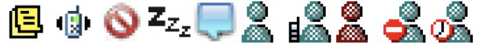 AIM and MSN status icons