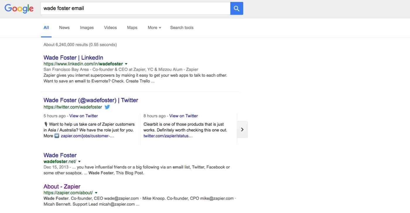 Pesquisa no Google por e-mail