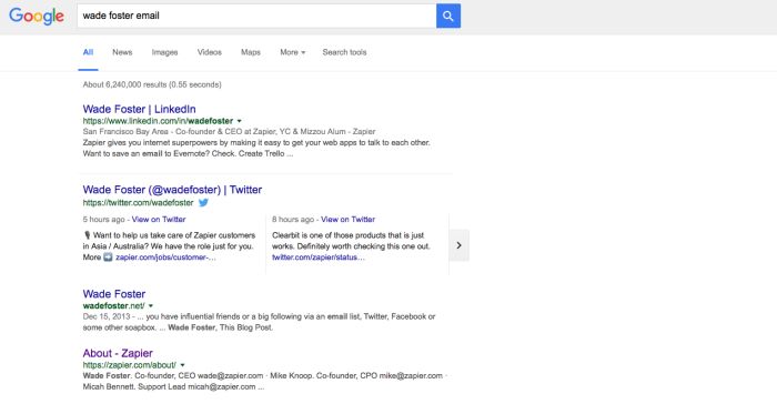 Búsqueda de correo electrónico de Google